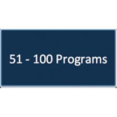51 - 100 Program Subscriptions